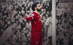 Картинка спорт, Англия, Египет, футболист, Liverpool, Mohamed Salah, Мохаммед Салах