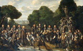 Картинка сеть, картина, жанровая, Аллегория Расцвета Голландского Промысла, Вильем Эверсдейк