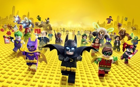Обои city, cinema, Wonder Woman, toy, Batman, yellow, movie, bat, Lego, Robin, hero, film, Two-Face, animated ...