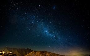 Обои галактика, звезды, космос, небо