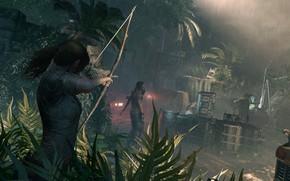 Картинка волосы, лук, Tomb Raider, Лара Крофт, Shadow of the Tomb Raider
