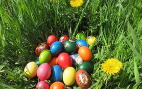 Картинка яйца, пасха, крашенки, весна 2018, meduzanol ©