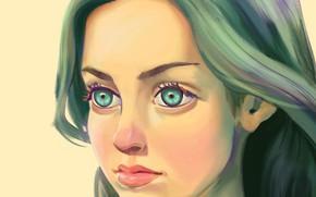 Картинка девушка, портрет, by seroglazka