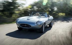 Картинка дорога, машина, скорость, Jaguar, Eagle, sportcar, Spyder, speed, british, Road, E-TYPE