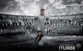Картинка wallpaper, sport, football, player, AS Roma, Juan Manuel Iturbe