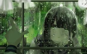 Картинка девушка, капли, дождь, куклы