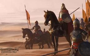 Картинка Игра, Пустыня, Конь, Воин, Солдат, Арт, Mount & Blade, Средневековье, Bannerlord, Mount & Blade 2: …