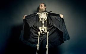 Картинка человек, скелет, фон