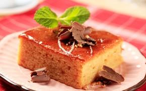 Картинка шоколад, пирожное, десерт, бисквит