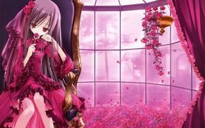 Обои арт, комната, tinkle, девочка, цветы