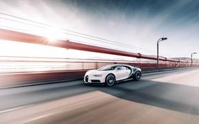 Картинка Bugatti, Black, White, VAG, Chiron