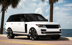 Картинка Range Rover, black, with, Supercharged, painted, gloss, two-tone