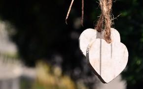 Картинка фон, сердце, шнур