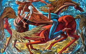 Картинка лошади, Борьба, Айбек Бегалин, 2006г, джигиты