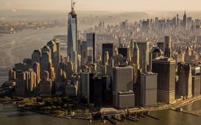 Картинка город, высота, небоскреб, дома, New_York
