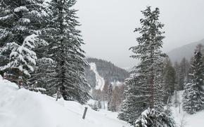 Картинка Природа, Зима, Снег, Nature, Winter, Frost, Snow, Сугробы