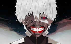 Картинка monster, anime, red eyes, boy, asian, human, mask, manga, oriental, asiatic, strong, shounen, Tokyo Ghoul, …