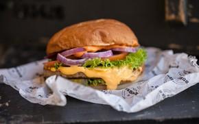 Картинка зелень, Гамбургер, лук, начинка