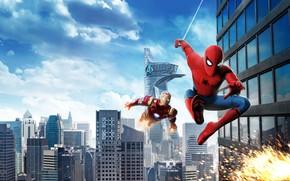 Обои Sci-Fi, Action, Spider-Man: Homecoming, Young man, Avengers, Homecoming, Film, Tony Stark, Spider man, Spiderman, Iron ...