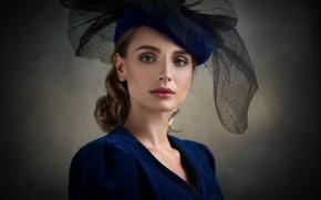 Картинка взгляд, девушка, стиль, портрет, фотограф, шляпка, Марго, Dennis Drozhzhin