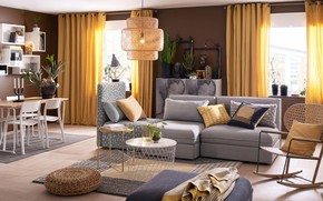 Картинка комната, интерьер, гостиная, Lappljung
