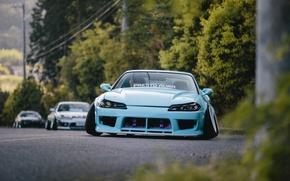 Обои Stance, Blue, Nissan, Silvia, S15, Nation, Low