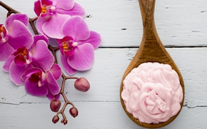 Картинка мыло, крем, орхидея, flowers, orchid, spa