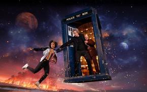 Картинка фантастика, планеты, Doctor Who, Доктор Кто, ТАРДИС, TARDIS, sci fi, Peter Capaldi, Двенадцатый Доктор, Twelfth …