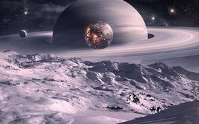 Обои планеты, сатурн, прикольно