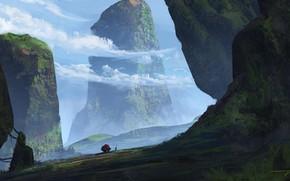 Картинка горы, путник, relic, Trade Route