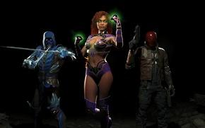 Картинка girl, gun, Sub-Zero, DLC, Red Hood, NetherRealm Studios, Jason Todd, Starfire, Injustice 2, ice sword