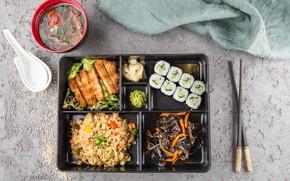Картинка еда, суп, суши, Морепродукты