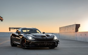 Обои Dodge, Viper, Black, ACR