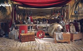 Картинка оружие, лавка, выбор, Total War Arena, promo arts