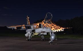 Обои аэродром, Jaguar, SEPECAT, истребитель-бомбардировщик