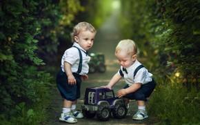 Картинка машинка, мальчики, дети