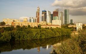 Картинка Река, Москва, Здания, Россия, Russia, Moscow, River, Buildings