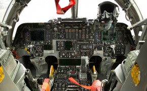 Картинка приборы, кабина, стратегический бомбардировщик, Rockwell B-1 Lancer