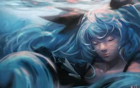 Картинка под водой, вокалоид, Хатсуне Мику, Fez