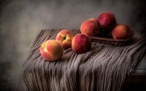 Картинка фрукты, натюрморт, персики
