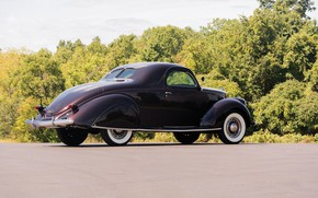 Картинка Coupe, Vintage, 1937, Lincoln Zephyr