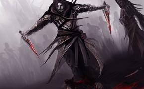 Картинка кровь, кинжалы, theDURRRRIAN, assassin commander