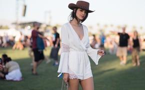 Картинка взгляд, девушка, шляпа, фигура, Eiza Gonzalez