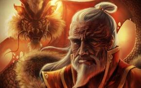 Обои Zuko, game, anime, dragon, man, fire, Avatar, by direimpulse, old Zuko