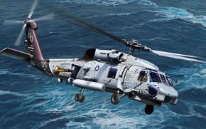Обои базовая модификация палубного, американский многоцелевой вертолёт, противолодочного вертолёта, Seahawk, Sikorsky, SH-60B