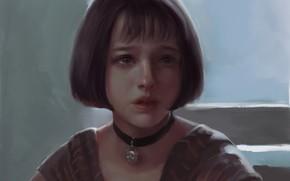 Картинка Леон, плачет, Матильда, Leon