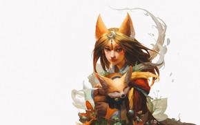 Картинка аниме, арт, WINT FOX, FOXS