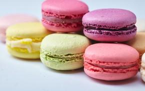 Обои colorful, десерт, сладкое, sweet, dessert, cookies, macaron, almond, макаруны