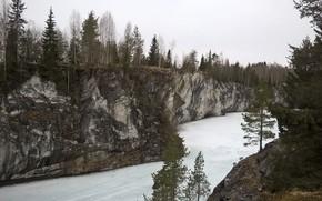 Картинка зима, природа, каньон