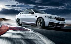 Обои BMW M5, M Performance, гоночный трек, 2018